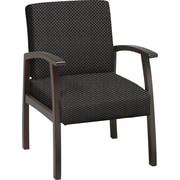 Office Star™ Custom Mahogany Finish Wood Guest Chair, Shale