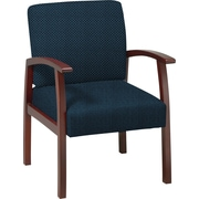 Office Star™ Custom Cherry Finish Wood Guest Chair, Blue Galaxy