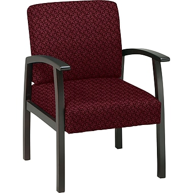 Office Star™ Custom Espresso Finish Wood Guest Chair, Inferno