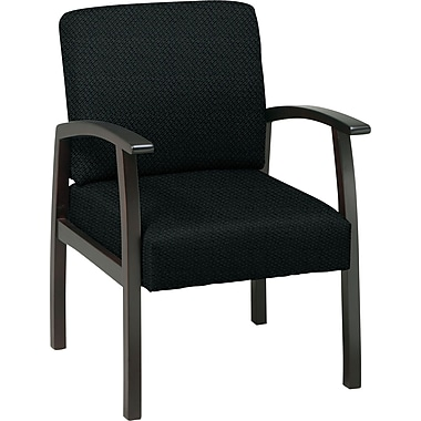 Office Star™ Custom Espresso Finish Wood Guest Chair, Jet