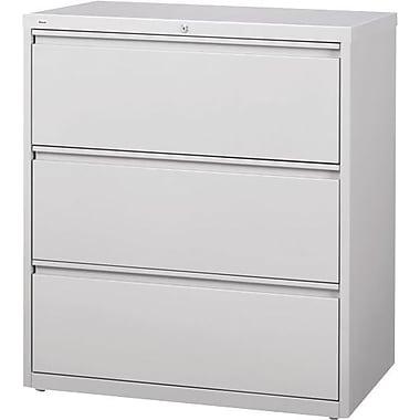 Hirsh - Classeur latéral de série HL10000, 3 tiroirs, gris