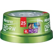 Memorex™ 25/Pack 4.7GB 4X DVD-RW, Spindle
