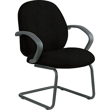 Office Star Distinctive Fabric Guest Chair, Black