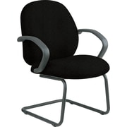 Office Star™ Distinctive Fabric Guest Chair, Black