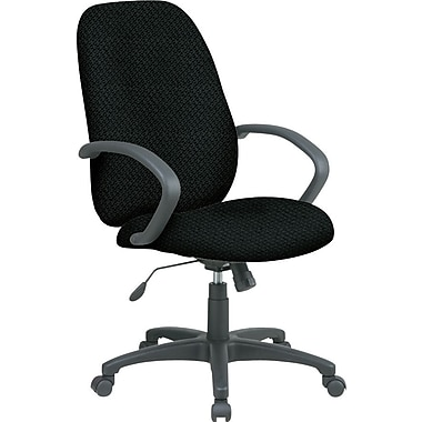 Office Star™ Fabric Executive Office Chair, Jet, Fixed Arm (EX2654-297)
