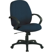Office Star™ Custom Distinctive Fabric Conference Room Chair, Blue Galaxy