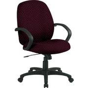 Office Star™ Custom Distinctive Fabric Conference Room Chair, Ruby