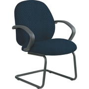 Office Star™ Custom Fabric Guest Chair, Blue Galaxy