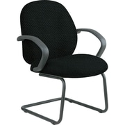 Office Star™ Custom Fabric Guest Chair, Jet