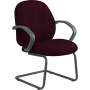 Office Star™ Custom Fabric Guest Chair, Ruby