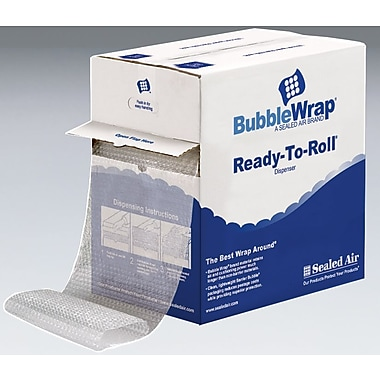 Bubble Wrap Bubble Rolls in Dispenser Box, 12in. x 100', 5/16in. bubble