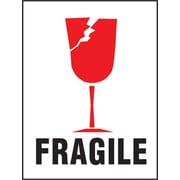 "International Safe Handling Label, ""Fragile"", 3"" x 4"", 500/Roll"