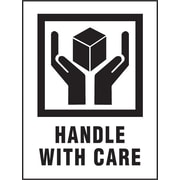 "International Safe Handling Label, ""Handle with Care"", 3"" x 4"", 500/Roll"