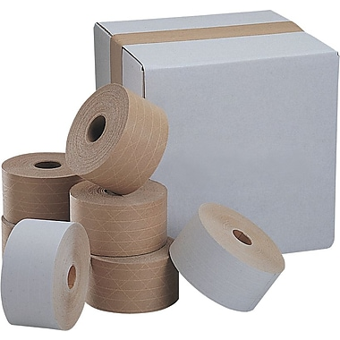 Glass-Reinforced White Sealing Tape, Industrial, 3in. x 375'