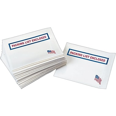 USA Packing List Enclosed Envelopes, 7in. x 5 1/2in.