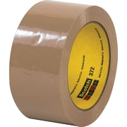 3M #372 Hot Melt Packaging Tape, 2x55 yds., Tan, 36/Case