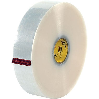 3M #371 Hot Melt Packaging Tape, 3in.x1000 yds., Clear, 4/Pack