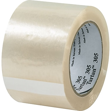Scotch® #305 Acrylic Packaging Tape, 3in.x110 yds., 24/Case