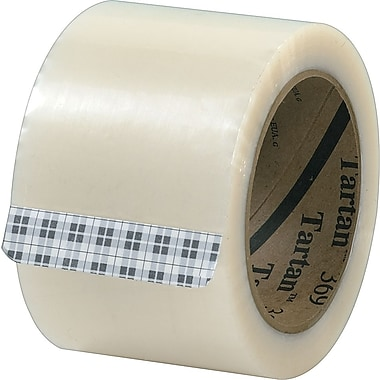 3M Tartan #369 Hot Melt Packaging Tape, 3in.x110 yds., Clear, 24/Case