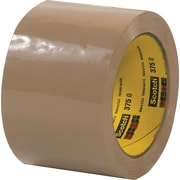 Scotch® #375 Hot Melt Packaging Tape, 3x55 yds., Tan, 24/Case