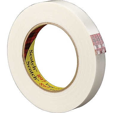 Scotch® #897 Medium Grade Filament Tape, 3/8in.x60 yds., 96/Case