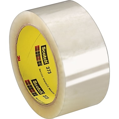 Scotch® #373 Hot Melt Packaging Tape, 2in.x110 yds., Clear, 36/Case
