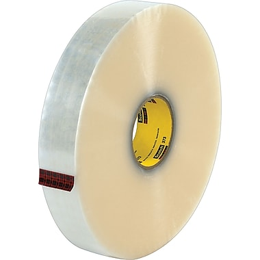 Scotch® #373 Hot Melt Packaging Tape, 2in.x1000 yds., Clear, 6/Pack