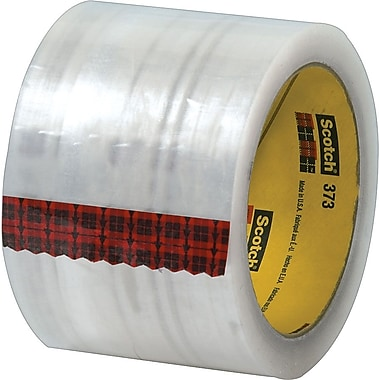 Scotch® #373 Hot Melt Packaging Tape, 3in.x55 yds., Clear, 24/Case