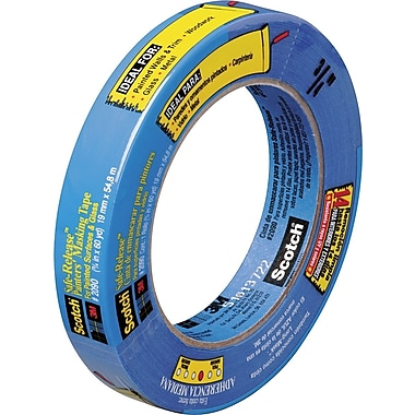 Scotch® Safe Release™ Weatherable Masking Tape, 3/4in.x60 yds.