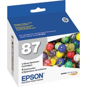Epson 87 Gloss Optimizer Cartridge (T087020), 4/Pack