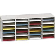 Safco® Adjustable Wood Literature Organizer, 24 Compartment, 39 1/4 x 11 3/4 x 16 1/4, Gray