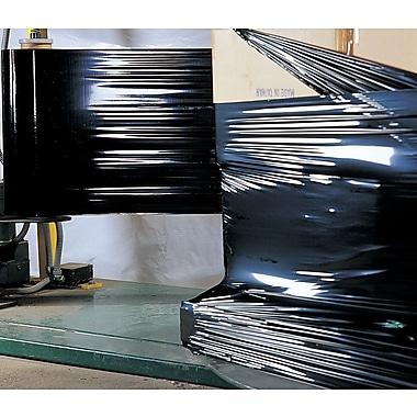 Black Opaque Machine - Grade Stretch Wrap, 80 Gauge, 20