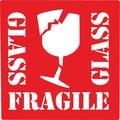 Fragile Glass Label, 4in. x 4in.