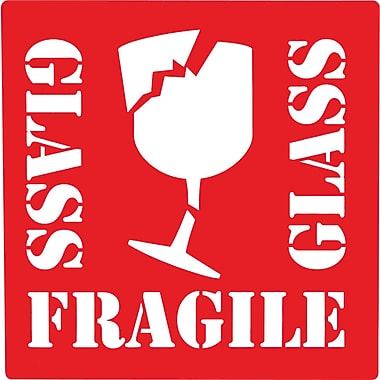 Fragile Glass Label, 4in. x 4in.