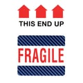 This Side Up Fragile Label, 4in. x 6in.