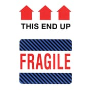 This Side Up Fragile Label, 4 x 6