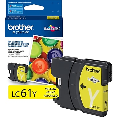 Brother – Cartouche d'encre jaune, LC61Y