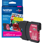 Brother LC65HYM Magenta Ink Cartridge, High Yield