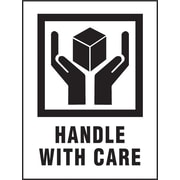 "Staples ""Handle with Care"" Labels, 3"" x 4"", 500/ROLL"