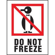 Do Not Freeze Label, 3 x 4