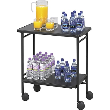 Safco® Folding Office/Beverage Cart, 2 Shelf, 30