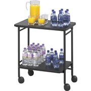 "Safco® Folding Office/Beverage Cart, 2 Shelf, 30""(H) x 26""(W) x 15""(D), Black"