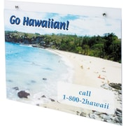 """Deflecto Wall Sign Holder, Landscape, Clear, 11""""H x 8 1/2""""W"""