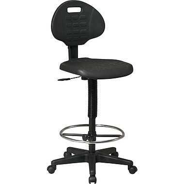 Office Star Black Urethane Drafting Chair, Armsless