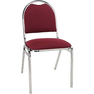 Alera® Continental Acrylic Round-Back Stacking Chairs, Burgundy, 4/Pack