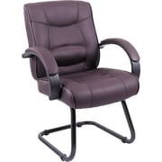 Alera® Strada Series Leather Guest Chair, Brown
