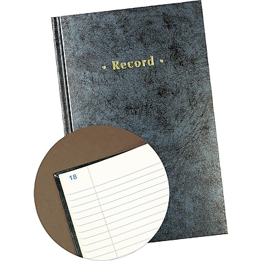 Staples® Blue Marbled Hardcover Record Book, 11-3/4in. x 7-1/4in.