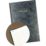 "Staples® Blue Marbled Hardcover Record Book, 11-3/4"" x 7-1/4"""