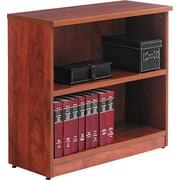 Alera® Valencia Bookcase/Storage Cabinet, 2 Shelves, Medium Cherry