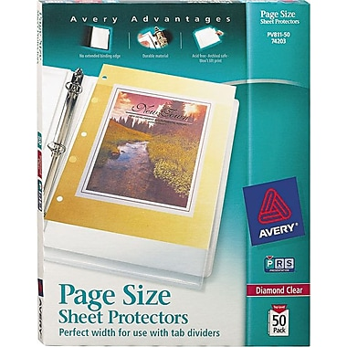 Avery® Page-Size Sheet Protectors, Diamond Clear